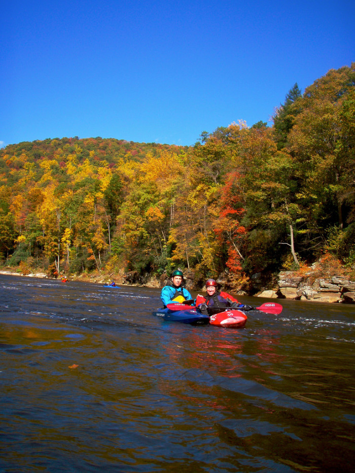 The Cheat River has more than 30 rapids all ranging from Class III to IV.