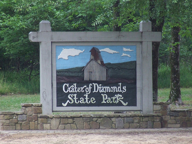 4. Crater of Diamonds State Park: This is the eighth largest diamond-bearing deposit in surface area in the world. Here you can enjoy the one-of-a-kind outdoor adventure of prospecting for real diamonds.