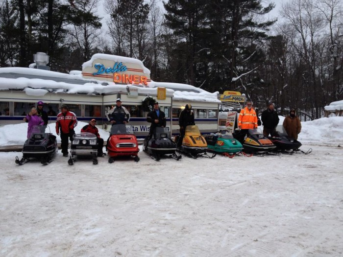 4. The Delta Diner (located in Delta, Wisconsin) is a truly unique experience.  It is located in the heart of the Chequamegon-Nicolet Forest. No, really. Many people visit on ATVs or on snowmobiles in the winter. You get the authentic diner experience in a truly unique setting.