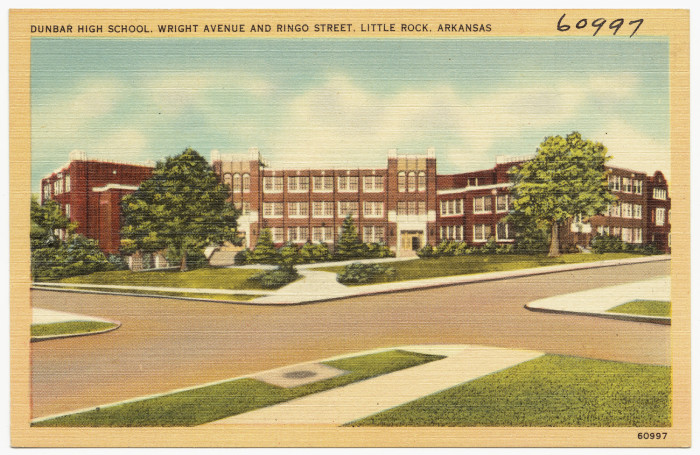 14. Dunbar High School: Things don't look very different about this historic building in 2015, but the student population has changed since this postcard was purchased.
