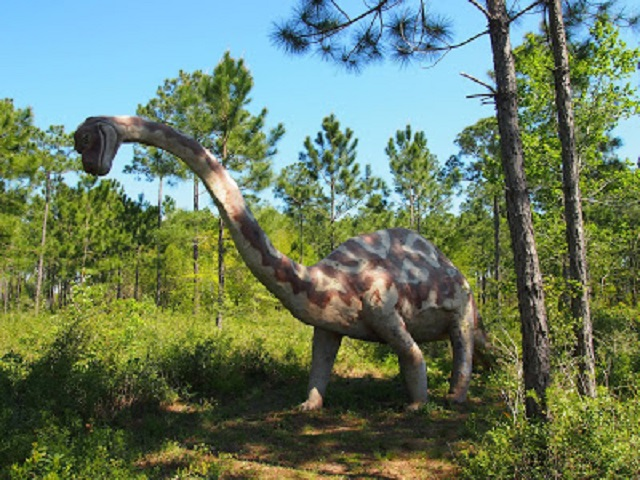 9. Dinosaurs in the Woods