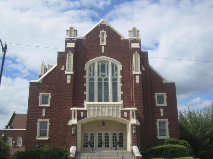 10. First Presbyterian Church of El Dorado: Located at  300 East Main Street in El Dorado, Arkansas, the single story brick building of this historic church was constructed in 1926 for a congregation which was organized in 1846.