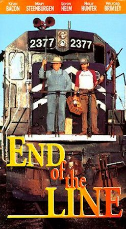 9. End of the Line (1987): Newport, Arkansas native Mary Steenburgen collaborated with fellow Arkansan Jay Russell on this production.  Steenburgen made the film as a tribute to her father, a Union Pacific Railroad worker. Starring along with Steenburgen in the movie is another well- known Arkansan, actor/singer/musician Levon Helm. Other stars in the movie include Wilford Brimley, Holly Hunter, and Kevin Bacon.