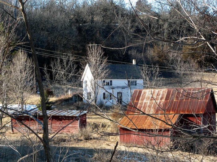 4. This is a picture of an abandoned homestead in Iowa County, Wisconsin.