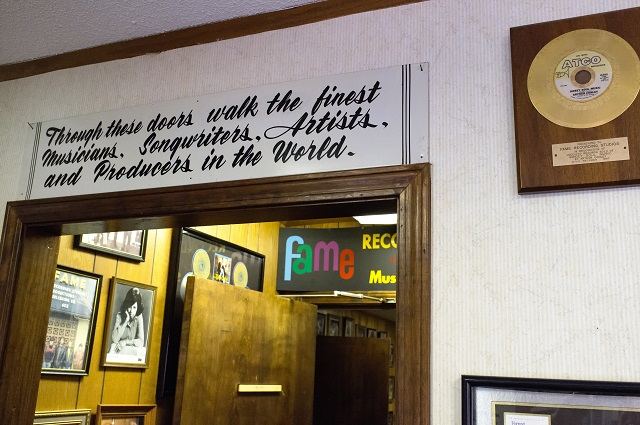 8. Take a tour of FAME Recording Studios in Muscle Shoals - home of the Muscle Shoals Sound.