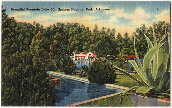 19. Fountain Lake: One more postcard from this picturesque Hot Springs location. Tourists continue to thoroughly enjoy themselves throughout the Spa City.