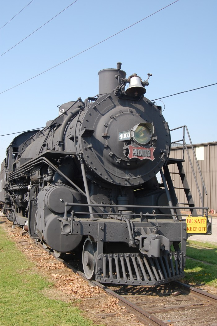 6. Frisco 4003: This is a 2-8-2, Mikado type, standard gauge steam railway locomotive built by the American Locomotive Company in 1919 as a standard USRA light Mikado for the Pennsylvania Railroad. She is now on display at the Fort Smith Trolley Museum in Fort Smith, Arkansas.