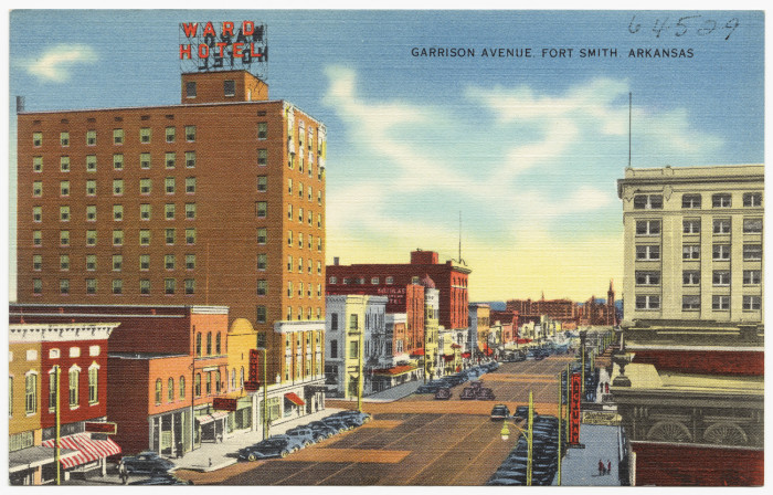 These 55 Vintage Arkansas Postcards Are A Trip Through Time Courtyard Marriott Fort Smith Downtown Gazebo