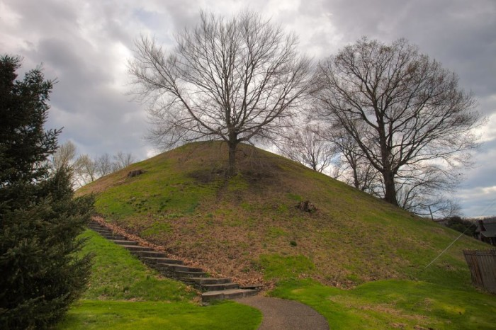 10) The Grave Creek Mound, located in Moundsville, West Virginia.