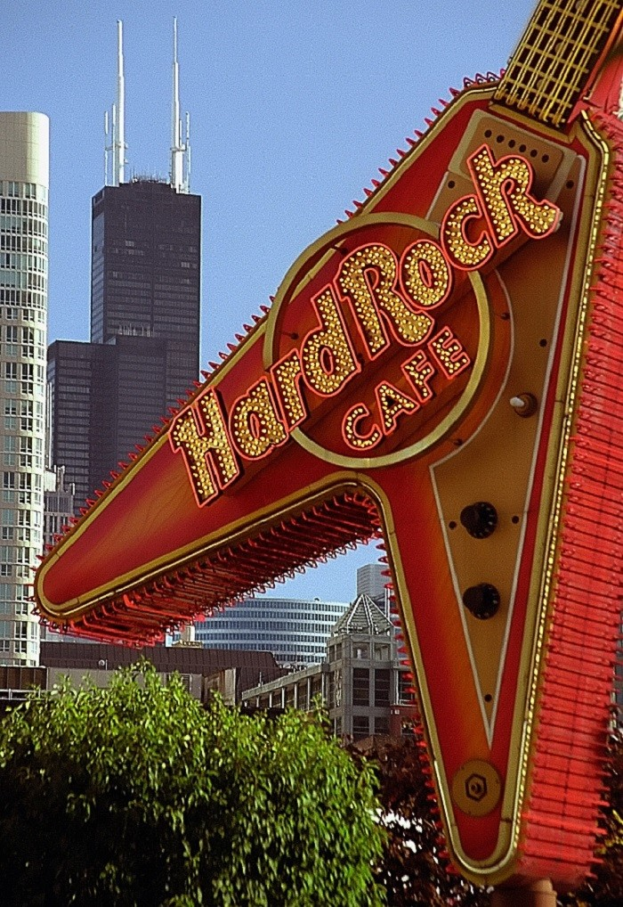 8.) Hard Rock Cafe - a chain of theme restaurants that can be found in most tourist cities around the world.