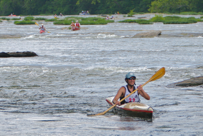 The Shenandoah River has much lighter and easier rapids which makes it a great beginner rafting river.
