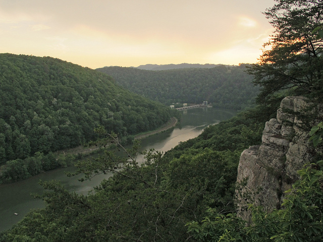 12) Hawks Nest State Park is located in Ansted, WV.