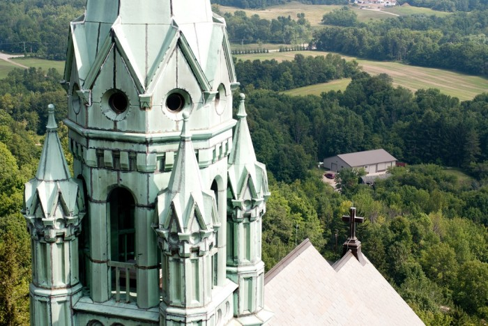 1. Holy Hill National Shrine of Mary, Help of Christians is located in Erin, Wisconsin. It was built in 1926. Nestled among 435 acres of Wisconsin tranquility, it is absolutely breathtaking and is a must-see.
