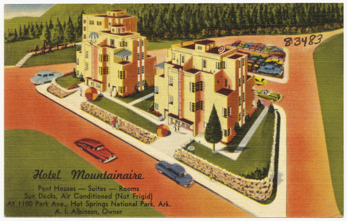 51. Hotel Mountainaire: This was one of many lodging areas in the Spa City during its initial tourist boom.