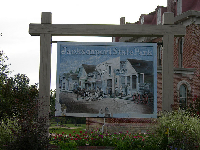 9. Jacksonport State Park: During the Civil War, Jacksonport was occupied by both Confederate and Union forces because of its crucial locale. Jacksonport became county seat in 1854, and construction of a stately, two-story brick courthouse began in 1869. The town began to decline in the 1880s when bypassed by the railroad.