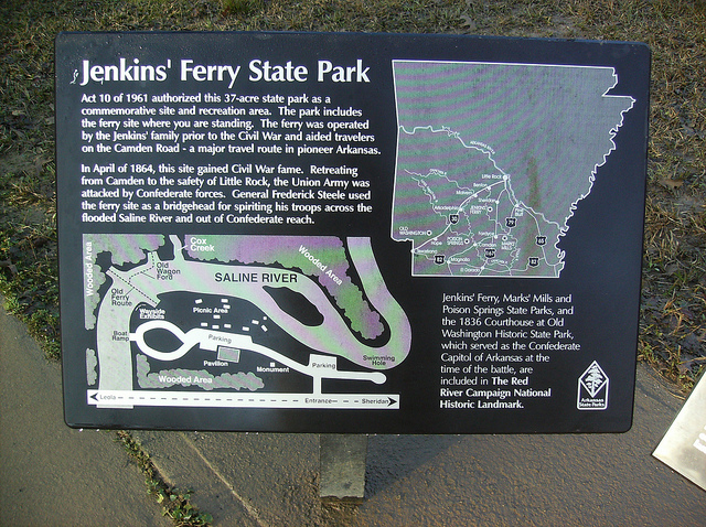 """10. Jenkins' Ferry Battleground State Park: Three Civil War battles took place in south central Arkansas that were part of the Union Army's """"Red River Campaign."""" Jenkins' Ferry is the most visited of the three sites."""