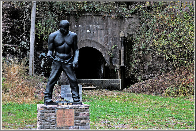 12) The John Henry Statue, located in Talcott, West Virginia.