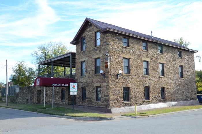 """7. Joseph Knoble Brewery: This historic beer brewery building can be found at North 3rd and """"E"""" Streets in Fort Smith, Arkansas. Built in the early 1850s, it is a three story stone building, with an extension beside that originally housed a large beer vault. The main beer production facility was on the third floor, and the first floor originally housed a tavern."""