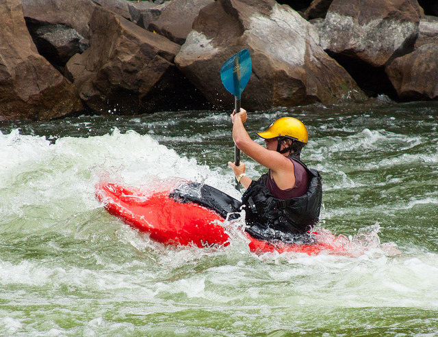 When it comes to kayaking, you can choose either a calm lake or the New River, which will get you into some rapids!