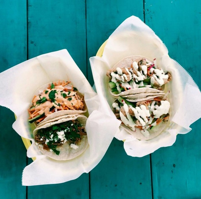 7. Kona Coast: This Fayetteville food truck specializes in tacos and seafood.
