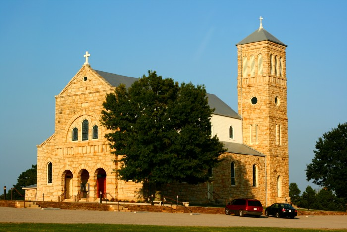 4. Our Lady of Perpetual Help Church in Altus: This church,  also known as St. Mary's Catholic Church, was built in 1902 and is located atop St. Mary's Mountain in Altus, Arkansas.