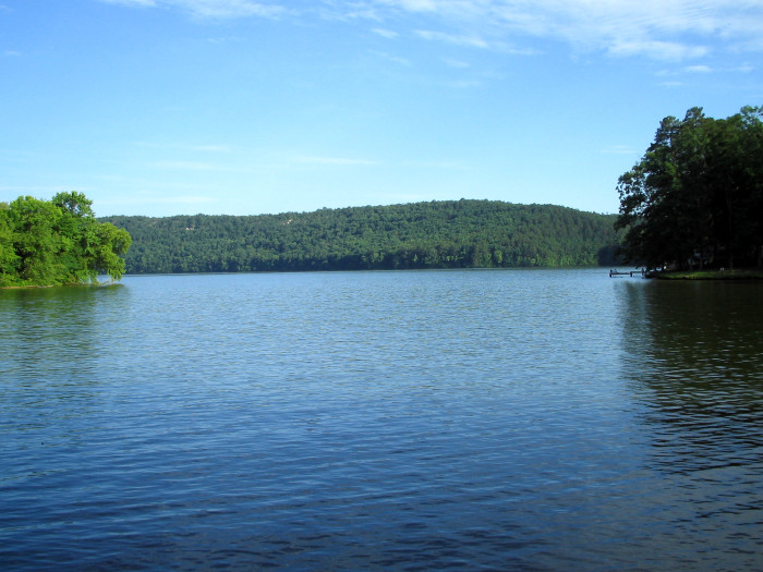 14. Lake Catherine: This smaller yet popular spot is situated near Hot Springs. Lake Catherine State Park is located on the lake's shore.