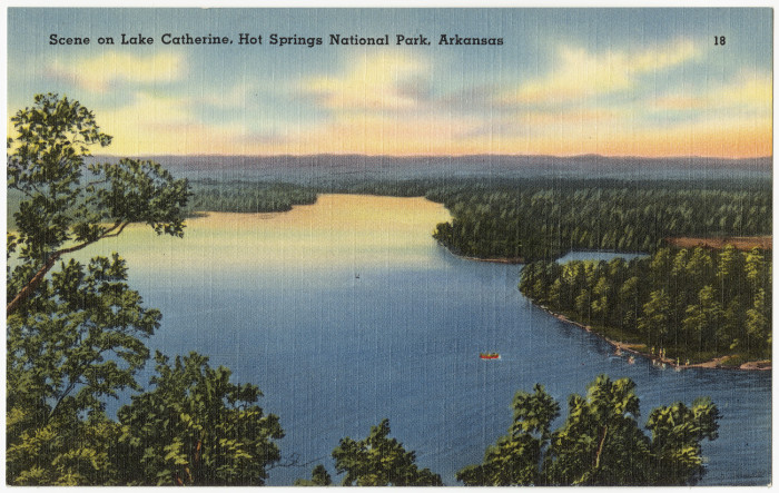 37. Lake Catherine: Lake Catherine was created in a virtual wilderness between Hot Springs and Malvern when the Arkansas Power and Light Co. (now Entergy Corp.) completed Remmel Dam in 1924 to generate electricity.