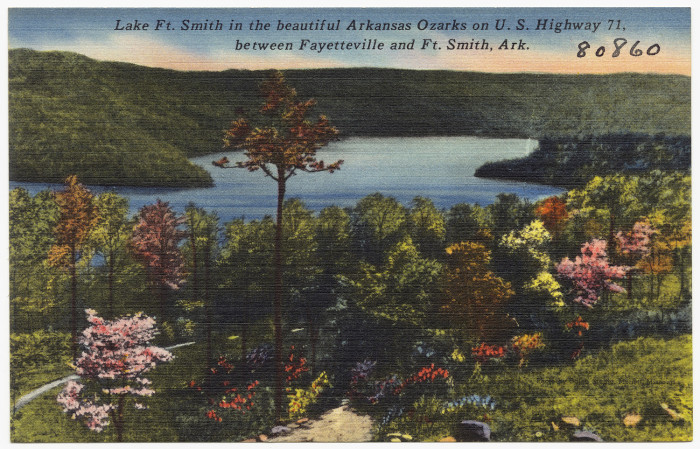 35. Lake Fort Smith: This scenic spot for a postcard is still nestled in a scenic valley of the Boston Mountain Range of the Ozark Mountains.