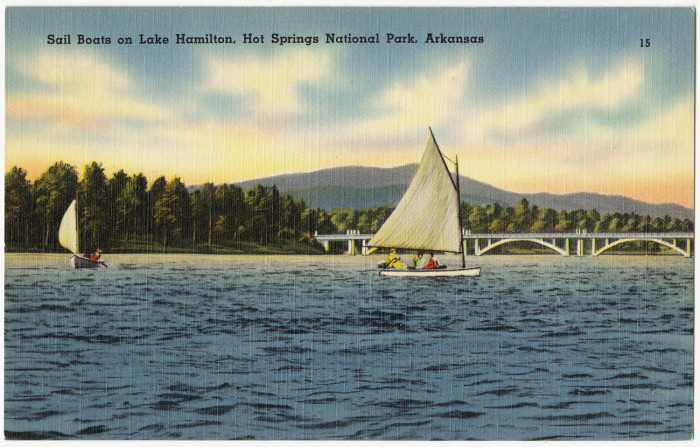 33. Lake Hamilton: This postcard-perfect scene was created in 1932 when the Arkansas Power and Light Co. completed Carpenter Dam on the Ouachita River to generate electricity.