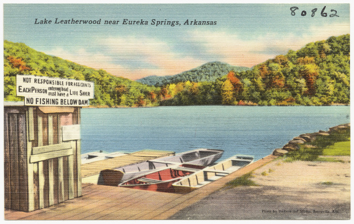 9. Lake Leatherwood: The dam and several structures at Lake Leatherwood park in Eureka Springs were built in the early 1940s by the WPA and are listed on the National Register of Historic Places.