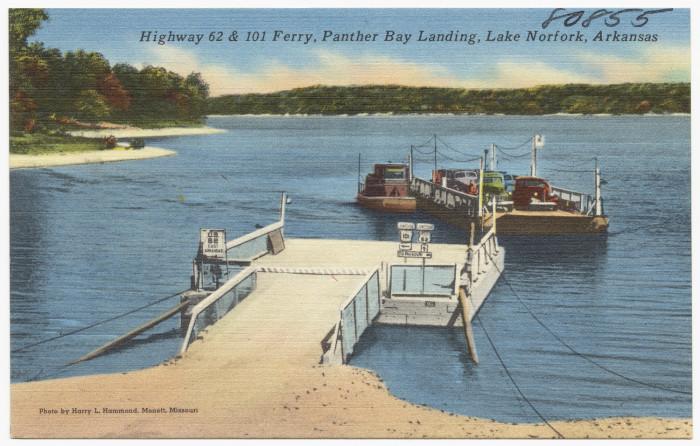 28. Lake Norfork: This postcard was taken at Panther Bay Landing at Lake Norfork.