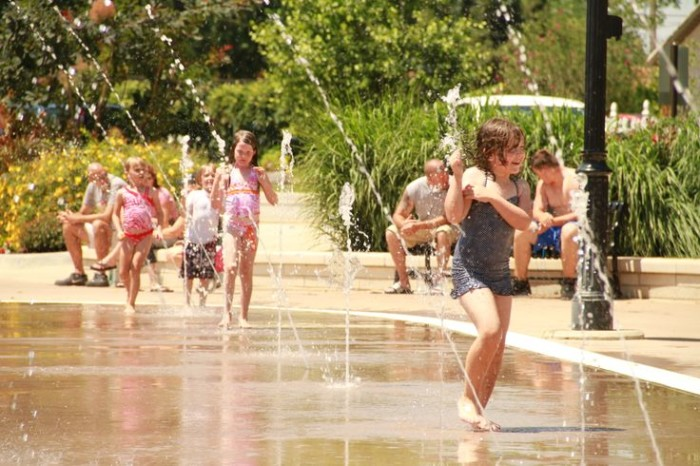 6. Lawrence Plaza: A large multi-use facility located just north of the City Square in Bentonville, Arkansas, the Plaza features an interactive water park that features over 80 fountain jets as well as a seasonal ice rink.