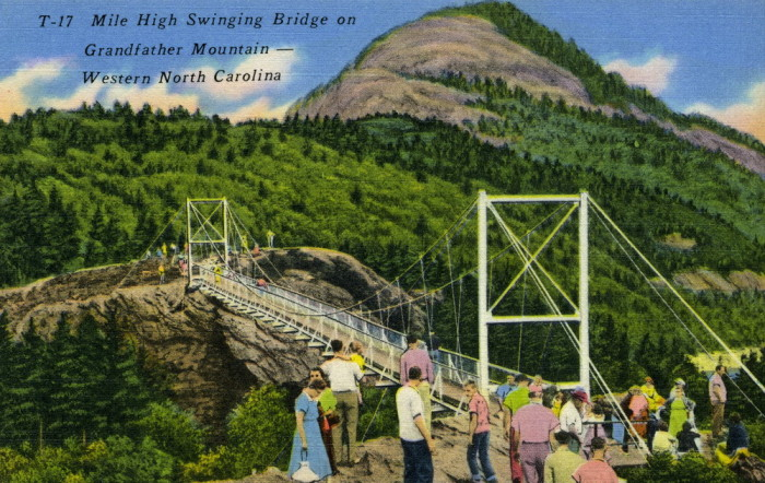 14. Is it just me or does everyone in this postcard look a little hesitant to walk across the mile high swinging bridge? It's ok, I was a little trepid on my first visit.
