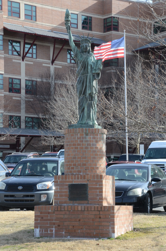 12. Strengthen the Arm of Liberty: A replica of the Statue of Liberty, this historic monument is in Fayetteville, Arkansas.