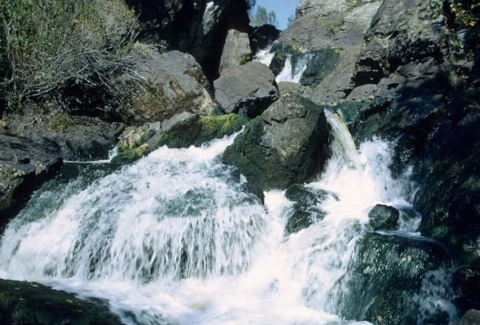 6. Long Slide Falls is located in Pembine and has fifty feet of falls.