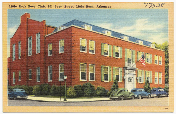 10. Little Rock Boys' Club: Formerly known as the Pulaski County Boys Club, this organization changed its name after the formation of the North Little Rock Boys' Club.