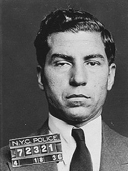 """10. """"Lucky"""" Luciano: On April 1, 1936, a New York detective on assignment spotted notoriously wanted gangster Charles Luciano strolling along Bathhouse Row in resort town Hot Springs, Arkansas (along with Hot Springs' chief of detectives). The detective approached Luciano and invited the gangster to return with him to New York, where Luciano would certainly be placed under arrest. Luciano naturally declined, saying that he was having a good time gambling and cavorting in the Spa City - which at the time was politically corrupt and a safe haven for many criminals."""
