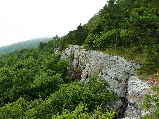 14. Mount Magazine State Park: The mountain offers sweeping vistas of broad river valleys, deep canyons, and distant mountains. Here the altitude, geography, and climate combine to create unique habitats for rare plants and animals. The elevation makes the mountaintop a cool place to be on hot summer days.