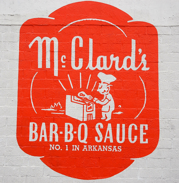 9. McClard's Bar-B-Q in Hot Springs: Once a beloved hangout of President Bill Clinton, this legendary Arkansas barbecue restaurant offers meats pit smoked daily on the premises.