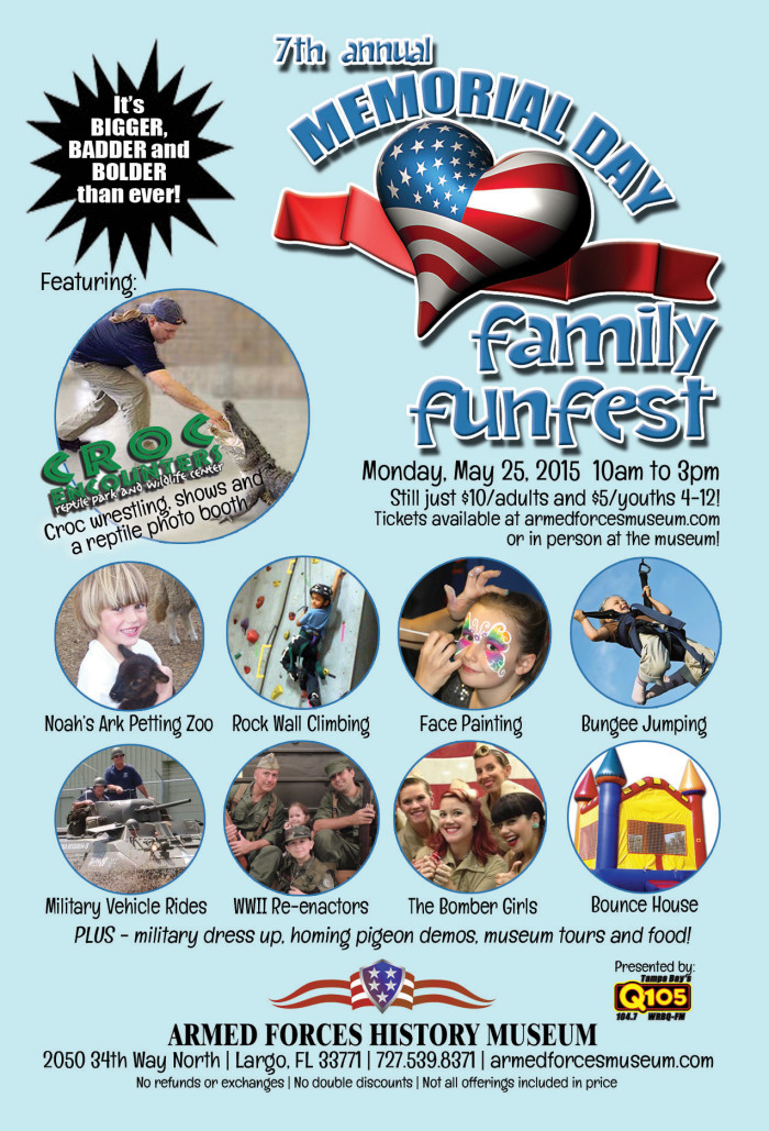 9. Memorial Day Family FunFest at the Armed Forces Museum in Largo
