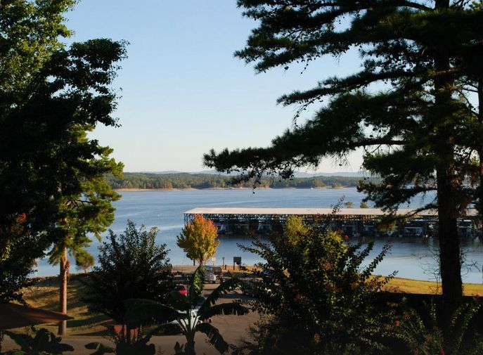 6. Mountain Harbor Resort & Spa: Set on a wooded point on Lake Ouachita, this waterfront resort is a glorious scenic wedding locale and is located approximately 30 miles from Hot Springs.