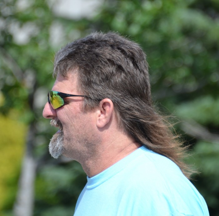 1. The guy's rocking a mullet.