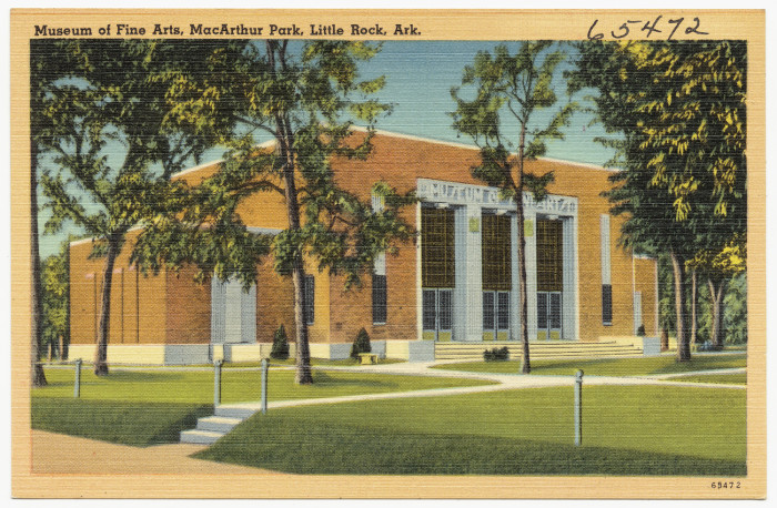 2. Museum of Fine Arts: Now known as the Arkansas Arts Center, this cultural heart of the capital city is still located in MacArthur Park.