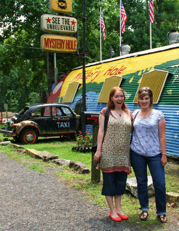 Near Hawks Nest State Park is the Mystery Hole, which is this wacky little museum where the laws of gravity matter no more.
