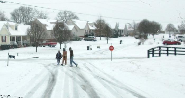 neighboorhood snow