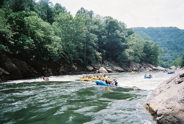 The New River is also a really popular river to raft on as it drops 240 feet over a 14-mile stretch.