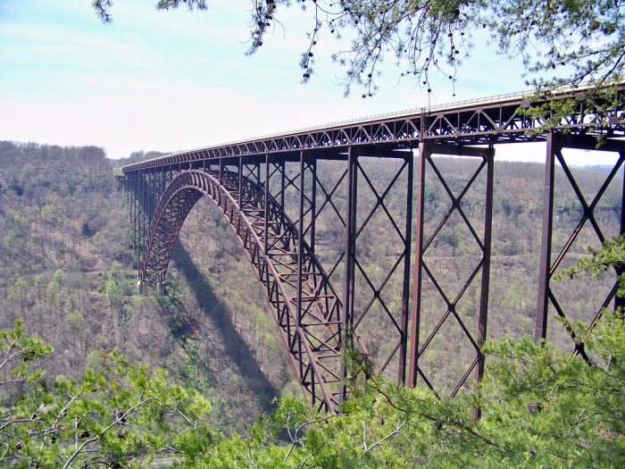 5) The New River Gorge Bridge is the second highest steel arch bridge in America.