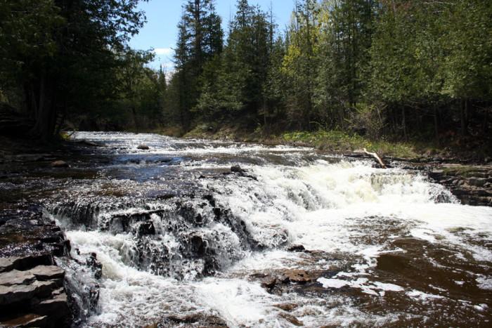 3) Ocqueoc Falls, near Millersburg, Bismarck Township