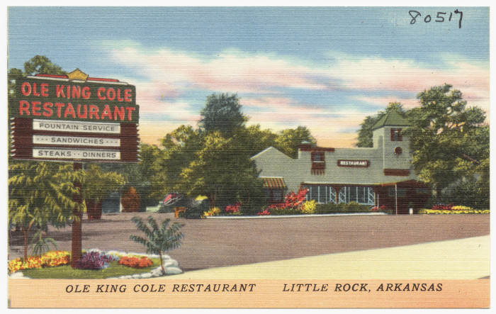 15. Ole King Cole Restaurant: Formerly located on Broadway in Little Rock, this restaurant is a reminder of days gone by in the capital city.