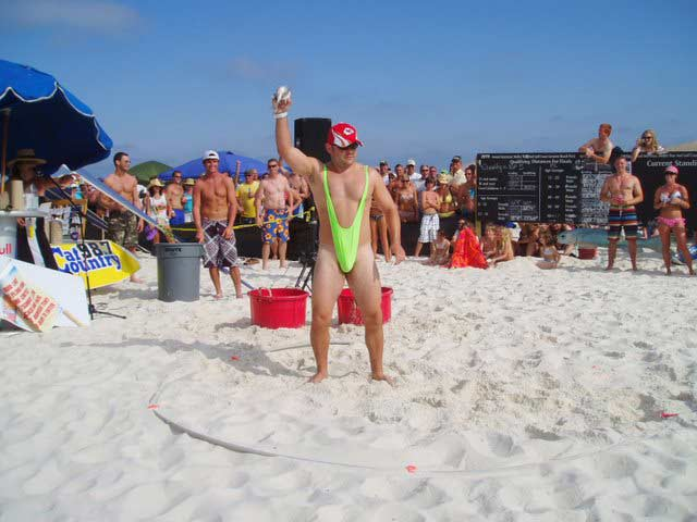 16. At the Flora-Bama Beach Bar's annual Mullet Toss, thousands of people gather to throw dead fish into Alabama.